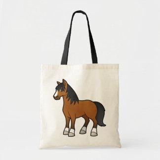 Cavalo dos desenhos animados bolsa de lona