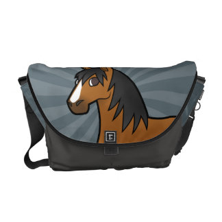 Cavalo dos desenhos animados bolsa mensageiro