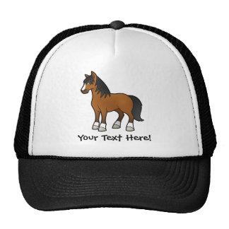 Cavalo dos desenhos animados bonés