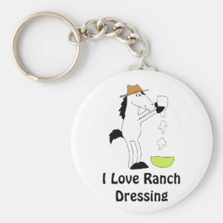 Cavalo dos desenhos animados com molho do rancho chaveiro