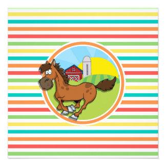 Cavalo dos desenhos animados; Listras brilhantes Convites