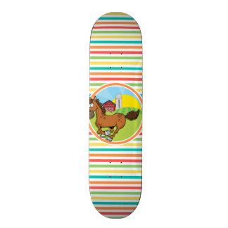 Cavalo dos desenhos animados; Listras brilhantes Skates
