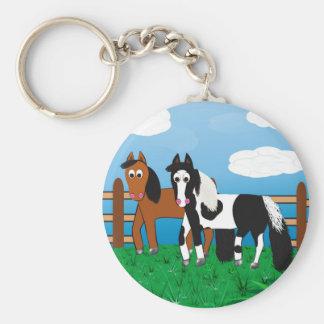 Cavalo dos desenhos animados chaveiro