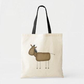 Cavalo dos desenhos animados sacola tote budget