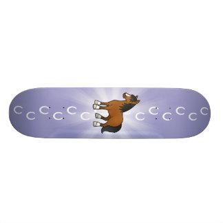 Cavalo dos desenhos animados shape de skate 18,7cm