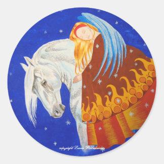 Cavalo e anjo adesivo