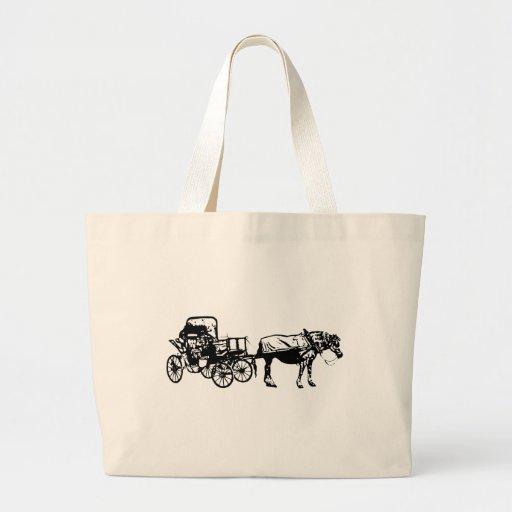 Cavalo e carrinho bolsas para compras