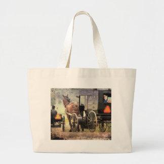 Cavalo e carrinho de Amish Bolsa Para Compras