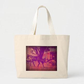 Cavalo e carrinho de Amish Sacola Tote Jumbo