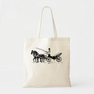 Cavalo e carruagem bolsa para compras