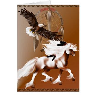 Cavalo e cartão de Eagle