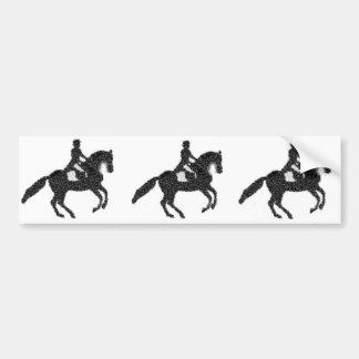 Cavalo e cavaleiro do mosaico de Bumpersticker- do Adesivo De Para-choque