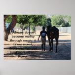 cavalo e cavaleiro que eventing impressão