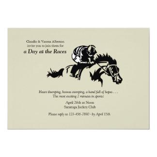 Cavalo e convite de Jokey