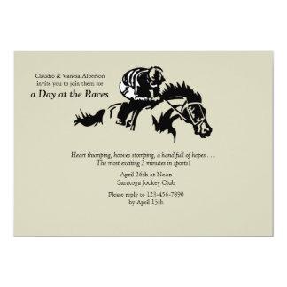 Cavalo e convite de Jokey Convite 12.7 X 17.78cm