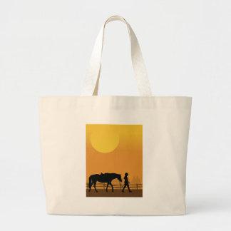 Cavalo e criança bolsas para compras