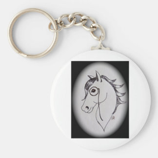 Cavalo e monocle chaveiro