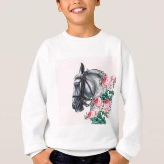 Cavalo e rosas agasalho