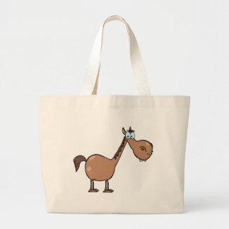 Cavalo engraçado bolsa para compras