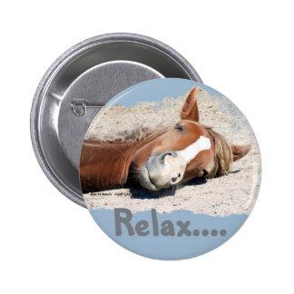 Cavalo engraçado: Relaxe Bóton Redondo 5.08cm