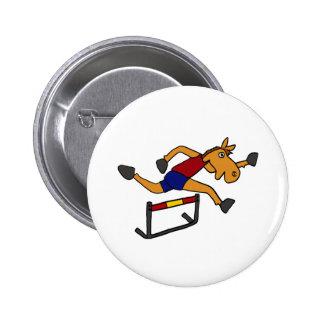 Cavalo engraçado XY que salta sobre desenhos anima Bóton Redondo 5.08cm