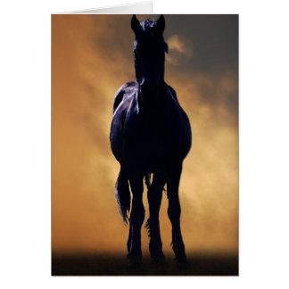 Cavalo espirituoso cartão comemorativo