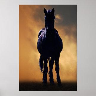 Cavalo espirituoso impressão