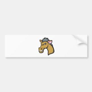 Cavalo feroz irritado dos desenhos animados adesivos