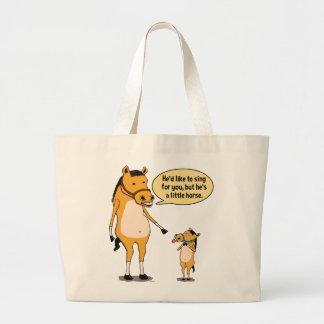 Cavalo grande engraçado e sacola pequena do cavalo sacola tote jumbo