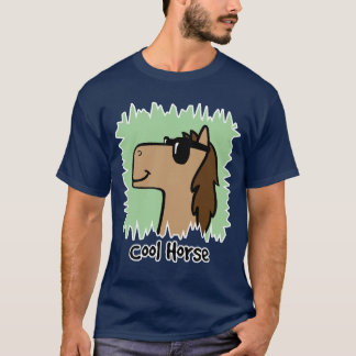 Cavalo legal do clipart dos desenhos animados que camiseta