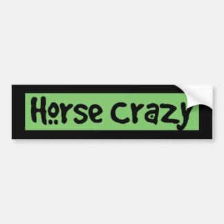 Cavalo louco adesivo para carro