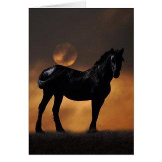 Cavalo majestoso cartão comemorativo