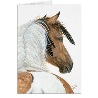 Cavalo majestoso do Pinto pelo cartão de BiHrLe