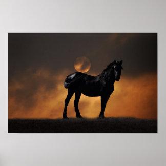Cavalo majestoso impressão