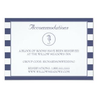 Cavalo marinho azul do cartão | da acomodação do