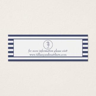 Cavalo marinho azul náutico do cartão | do Web