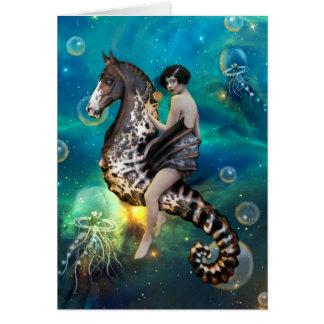 Cavalo marinho - cartão