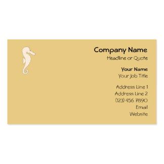 Cavalo marinho colorido claro no fundo da cor do cartão de visita
