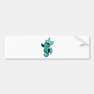 Cavalo marinho dos desenhos animados adesivo