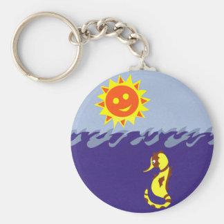 Cavalo marinho Sun e arte lunática dos desenhos a Chaveiros