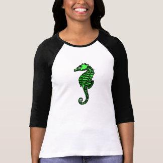 Cavalo marinho verde t-shirt