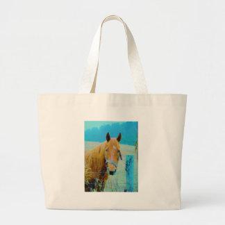 Cavalo matizado azul da sarja de Nimes Bolsa