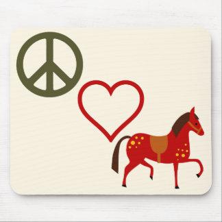 Cavalo Mousepad dos pôneis do amor da paz