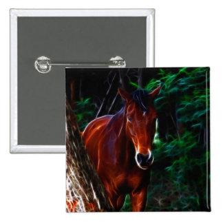 Cavalo na floresta botons