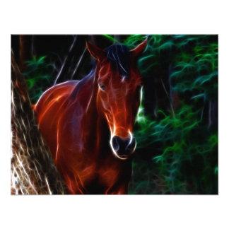 Cavalo na floresta convite personalizado