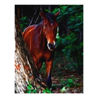 Cavalo na floresta panfletos personalizados