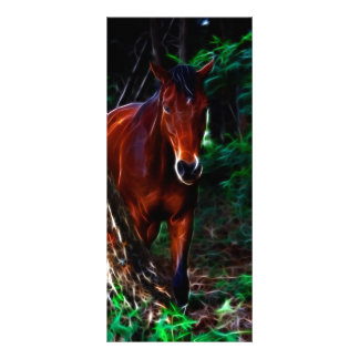 Cavalo na floresta panfletos informativos personalizados