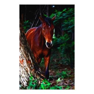 Cavalo na floresta papelaria