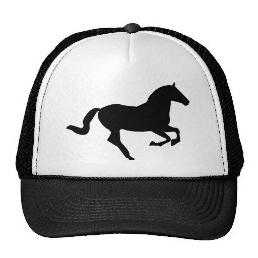 Cavalo na silhueta do preto do Galop Bonés