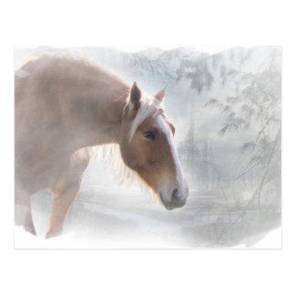 Cavalo no cartão dos cumprimentos da estação da